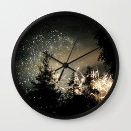 Forest Fireworks. © S. Montague. Wall Clock