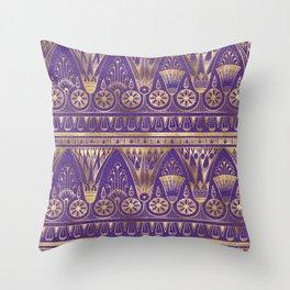 Egyptian Neck Gator Egypt Purple Egyptian Throw Pillow