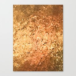 Golden Flames Stained Glass Abstract Canvas Print
