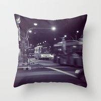 blur Throw Pillows featuring Blur by Tanya Bhargava
