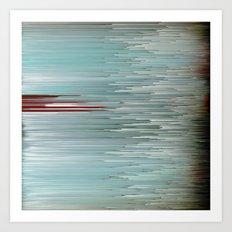 Planet Pixel Intersection Art Print