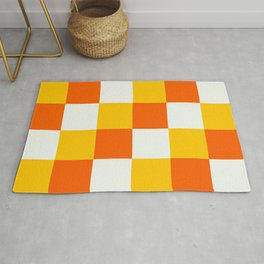 Checkerboard Menehune - Colorful Decorative Abstract Art Pattern Rug