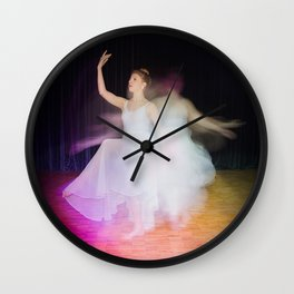 Ballerina dancing on stage Wall Clock