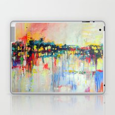 on the water,  expressive landscape, abstract Laptop & iPad Skin