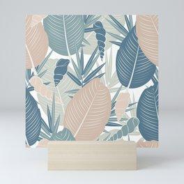 LEAVES AND SHELLS Mini Art Print