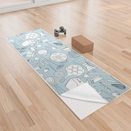 in the kitchen Yoga Towel