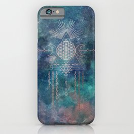 Lunar Goddess Mandala iPhone Case
