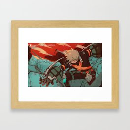Hero's Battle Framed Art Print