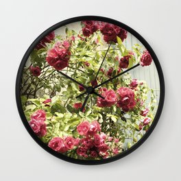 Vintage Rose I  | Pastel Color | Street Photography | Flower Photography | Fine Art Photo Print Wall Clock