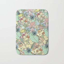 Nature Bloom Pattern Bath Mat