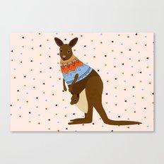 kangaroooooo Canvas Print