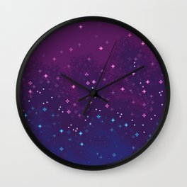 Bi Pride Flag Galaxy Wall Clock