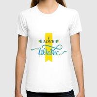 ukraine T-shirts featuring I love Ukraine by Broncos