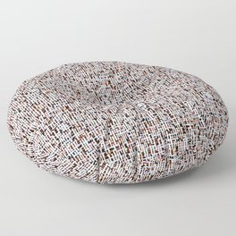 Abstract Boucle Texture / Cozy Winter Floor Pillow
