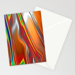 Monochrom Color Splash Abstract Stationery Cards