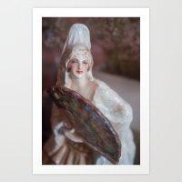 Porcelain Lady With Fan Art Print