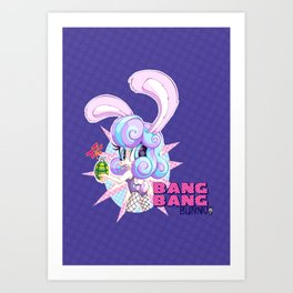Bang Bang Bunny Art Print