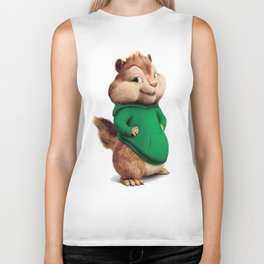 Theodore the cutes chipmunk Biker Tank