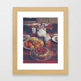 Food photography, fruit still life, kitchen wall art, bed & breakfast, food porn, fine art Framed Art Print