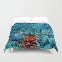 palm tree Duvet Covers featuring Palm Tree by DistinctyDesign