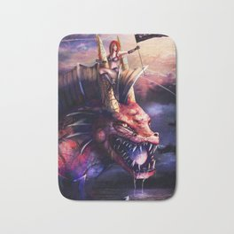 The Lady and the Water Dragon Bath Mat