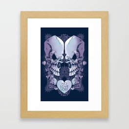 No Love Lost Framed Art Print