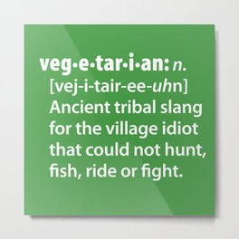 Vegetarian definition dictionairy Metal Print