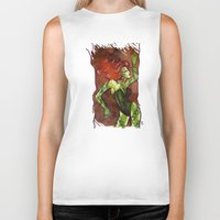 poison ivy Biker Tanks featuring Poison Ivy  by Sako Tumi