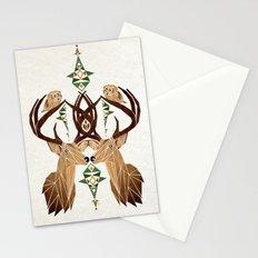 deer owl Stationery Cards