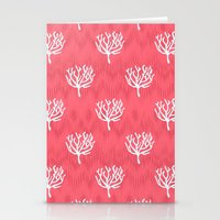 coral Stationery Cards featuring Coral by Marta Li