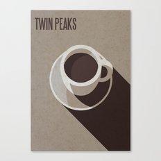 Twin Peaks Minimalist Coffee Poster Canvas Print