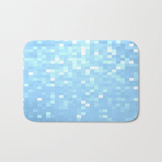Blue Pixels Bath Mat