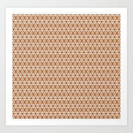 Copper and White Lines Art Print