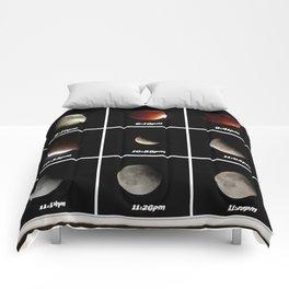 Supermoon & Eclipse -  September 27, 2015 Comforters
