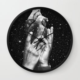Heart says hold on Wall Clock