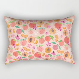 Apricot, Nectarine, & Peaches Rectangular Pillow