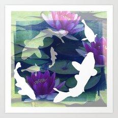 English Garden Life Art Print
