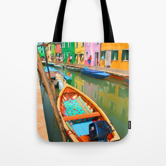 burano, italy - boat Tote Bag