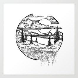 Little islands Art Print
