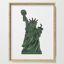 Fat Lady Liberty | Fast Food Society Hamburger Serving Tray
