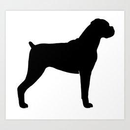 Boxer Dog Silhouette Art Print