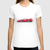 ferrari T-shirts featuring Ferrari F40  by Claeys Jelle Automotive Artwork