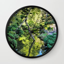 Japanese Tea Garden Lake Wall Clock