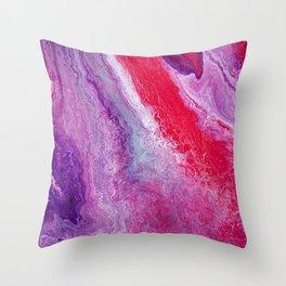 Red Geostone Throw Pillow