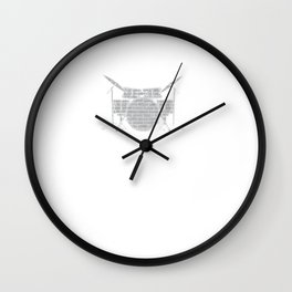 Drummers Music Lovers Drumming Musicians Drums Rock Bands Gift Wall Clock