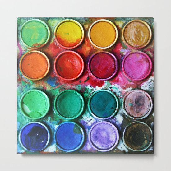 Paint box Metal Print