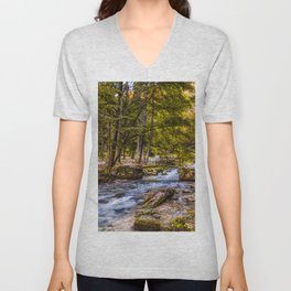 Small old bridge Unisex V-Neck