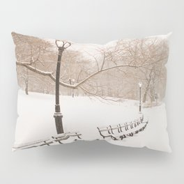 Snowing in Central Park Pillow Sham