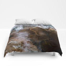 Kerlingarfjöll mountain range in Iceland - Aerial Landscape Photography Comforters