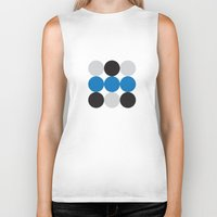 dots Biker Tanks featuring Dots by Alexander Studios